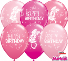 Minnie Mouse Birthday Balloons - 11 Inch Balloons (25pcs)
